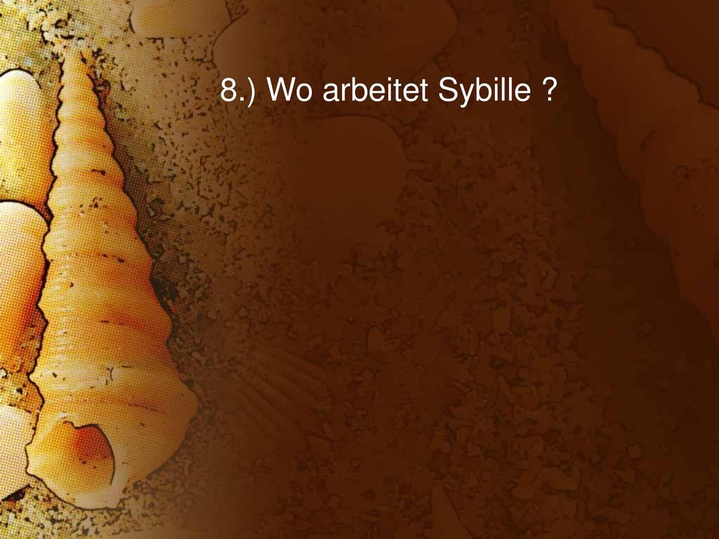 8.) Wo arbeitet Sybille