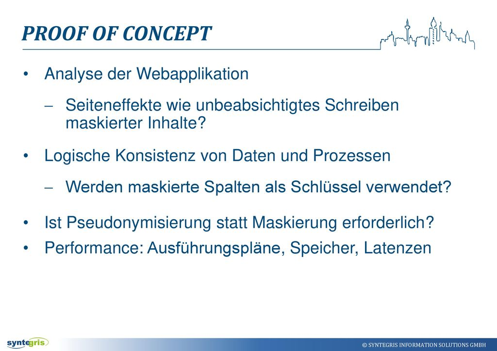 Proof of Concept Analyse der Webapplikation