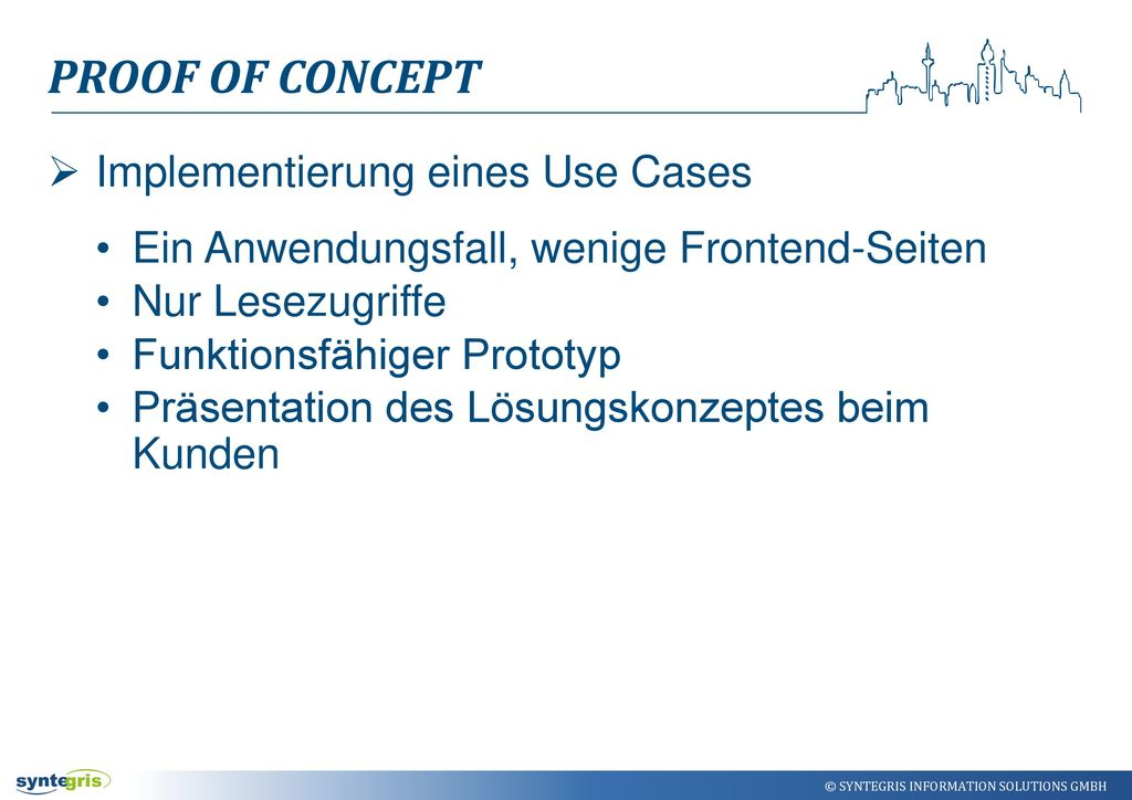 Proof Of ConcEpt Implementierung eines Use Cases