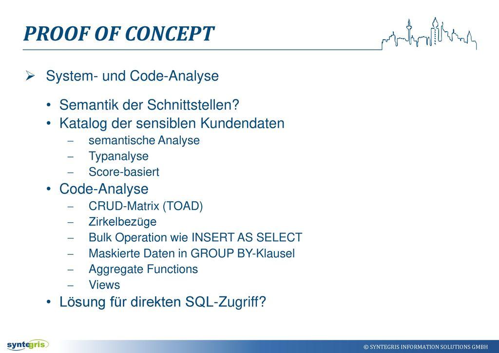 Proof of Concept System- und Code-Analyse Semantik der Schnittstellen