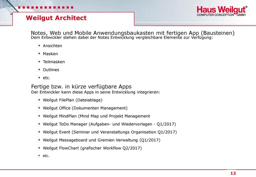 Weilgut Architect