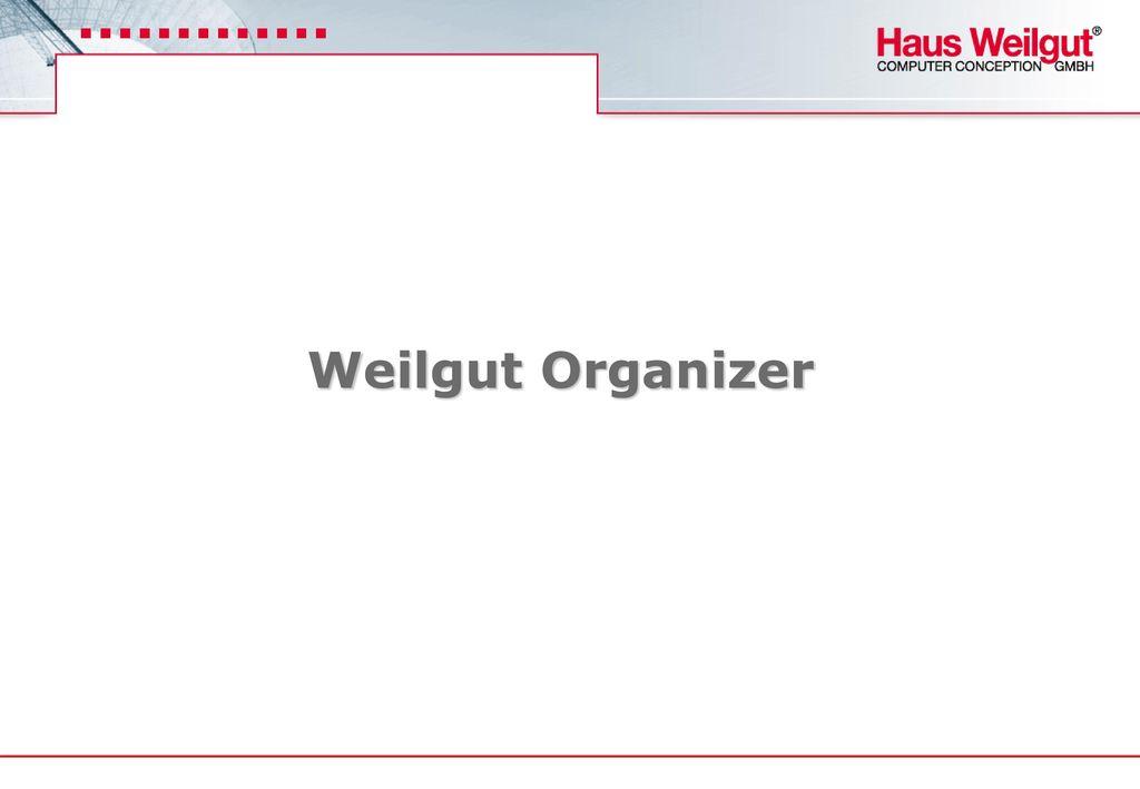 Weilgut Organizer