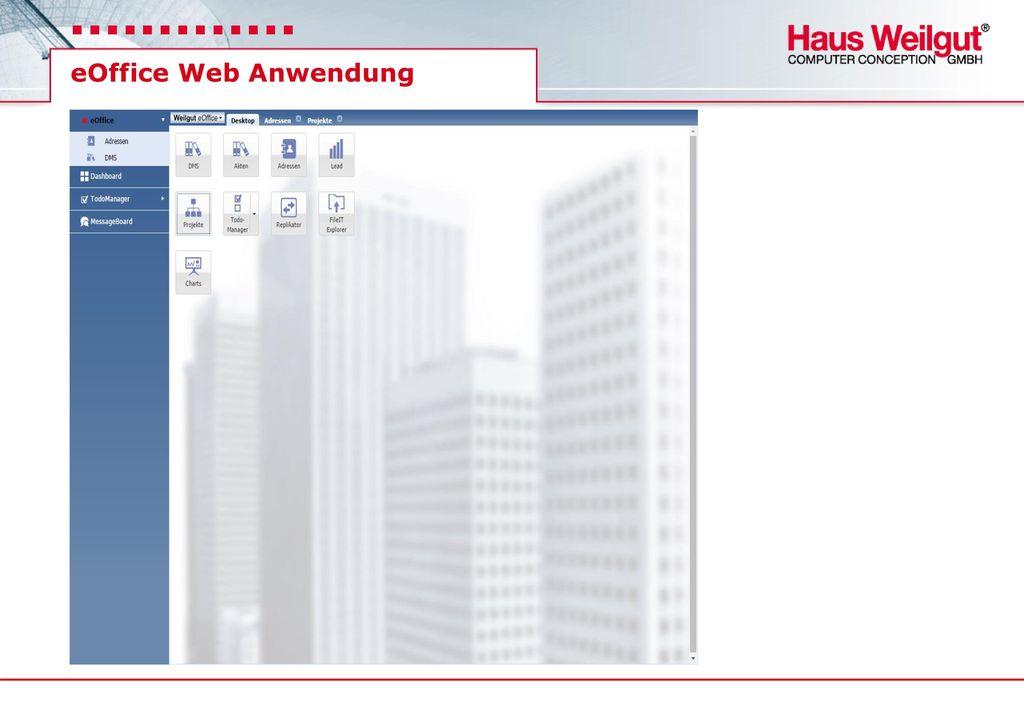 eOffice Web Anwendung
