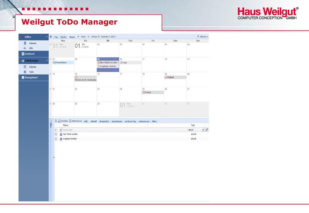 Weilgut ToDo Manager