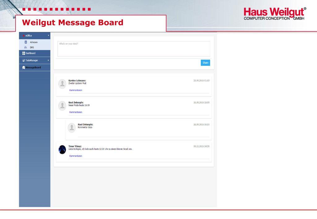 Weilgut Message Board