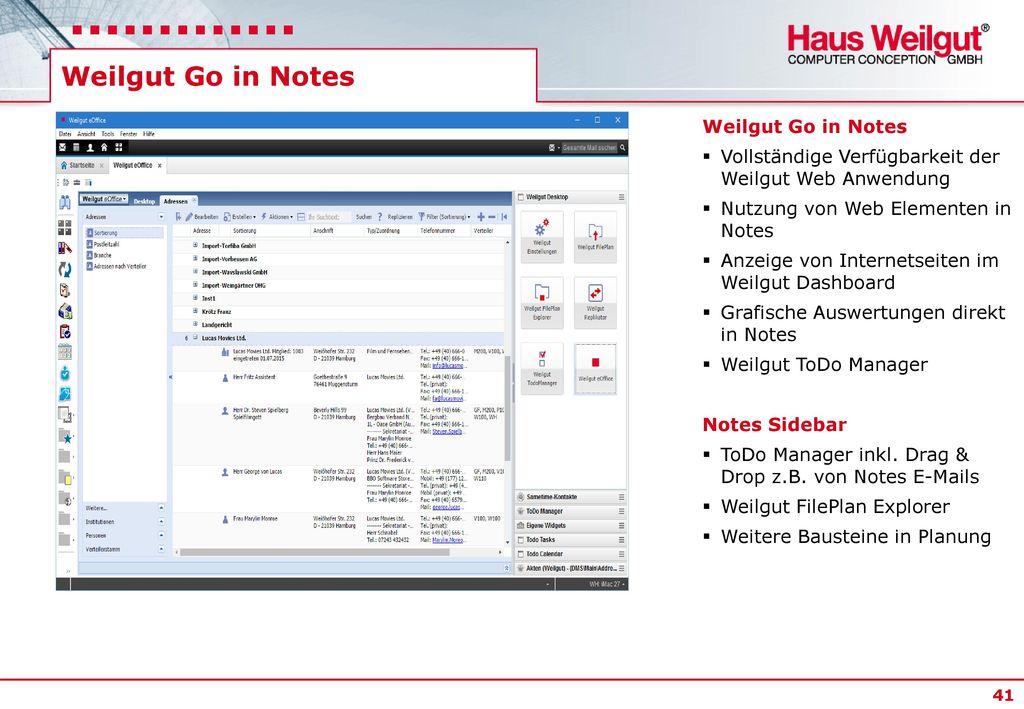 Weilgut Go in Notes Weilgut Go in Notes