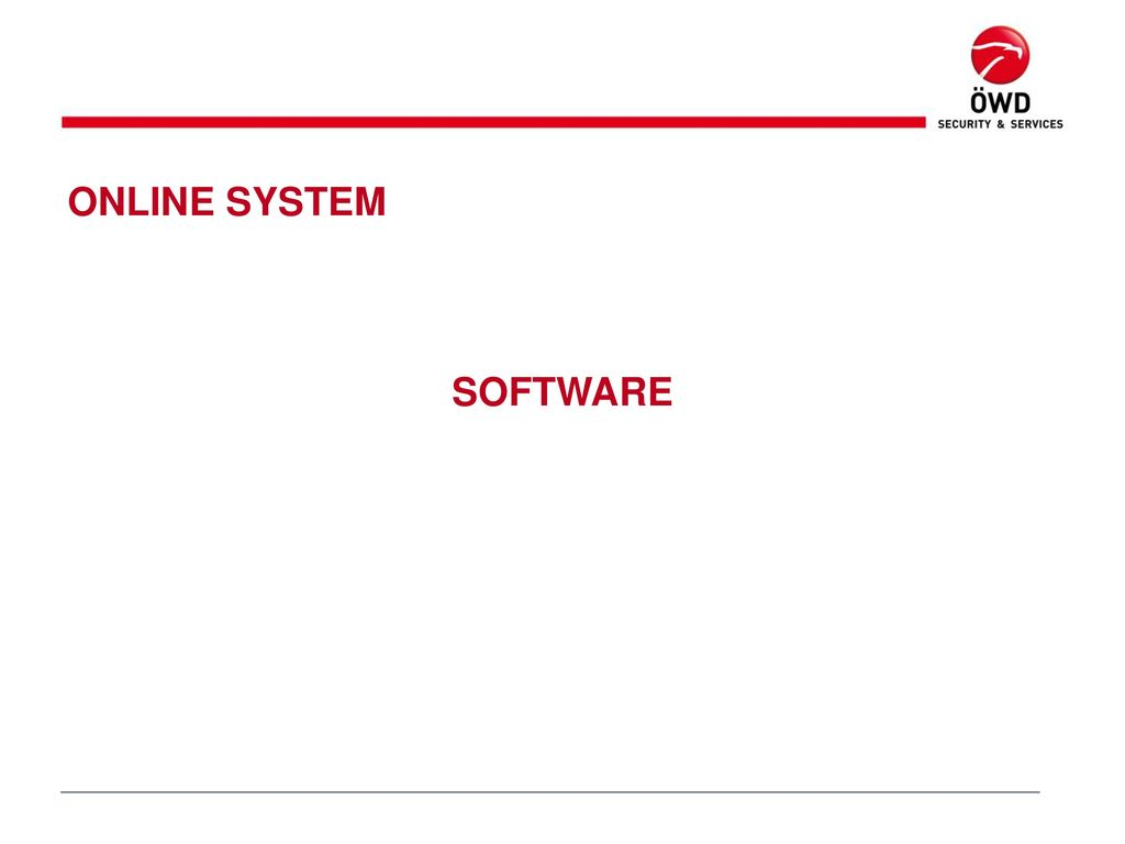 ONLINE SYSTEM SOFTWARE