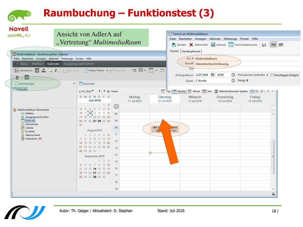 Raumbuchung – Funktionstest (3)