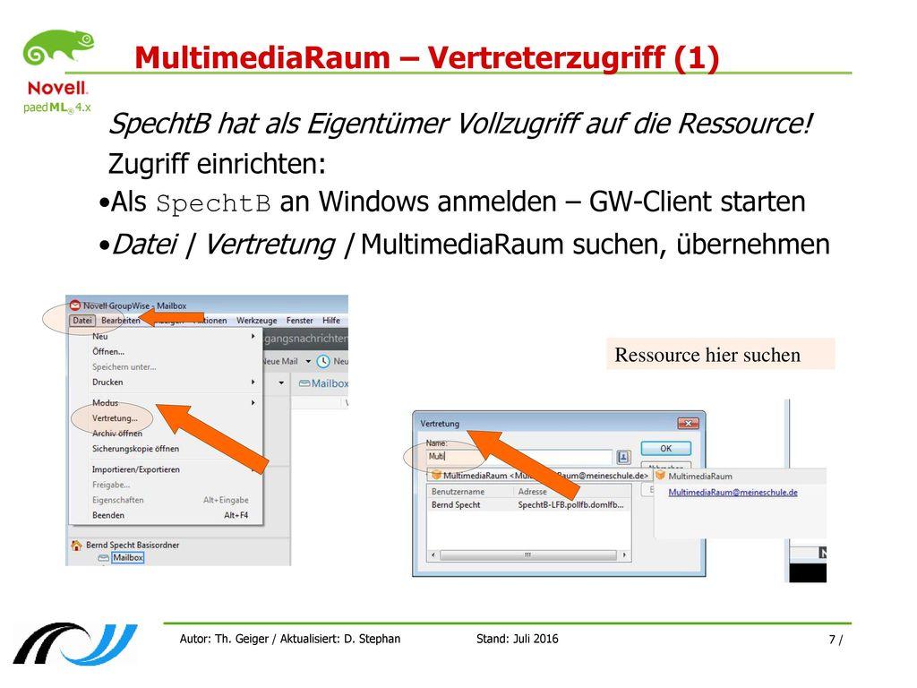 MultimediaRaum – Vertreterzugriff (1)