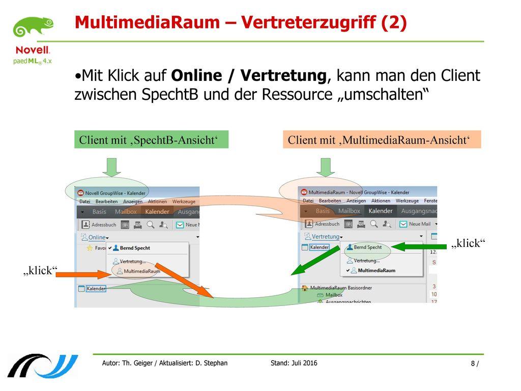 MultimediaRaum – Vertreterzugriff (2)
