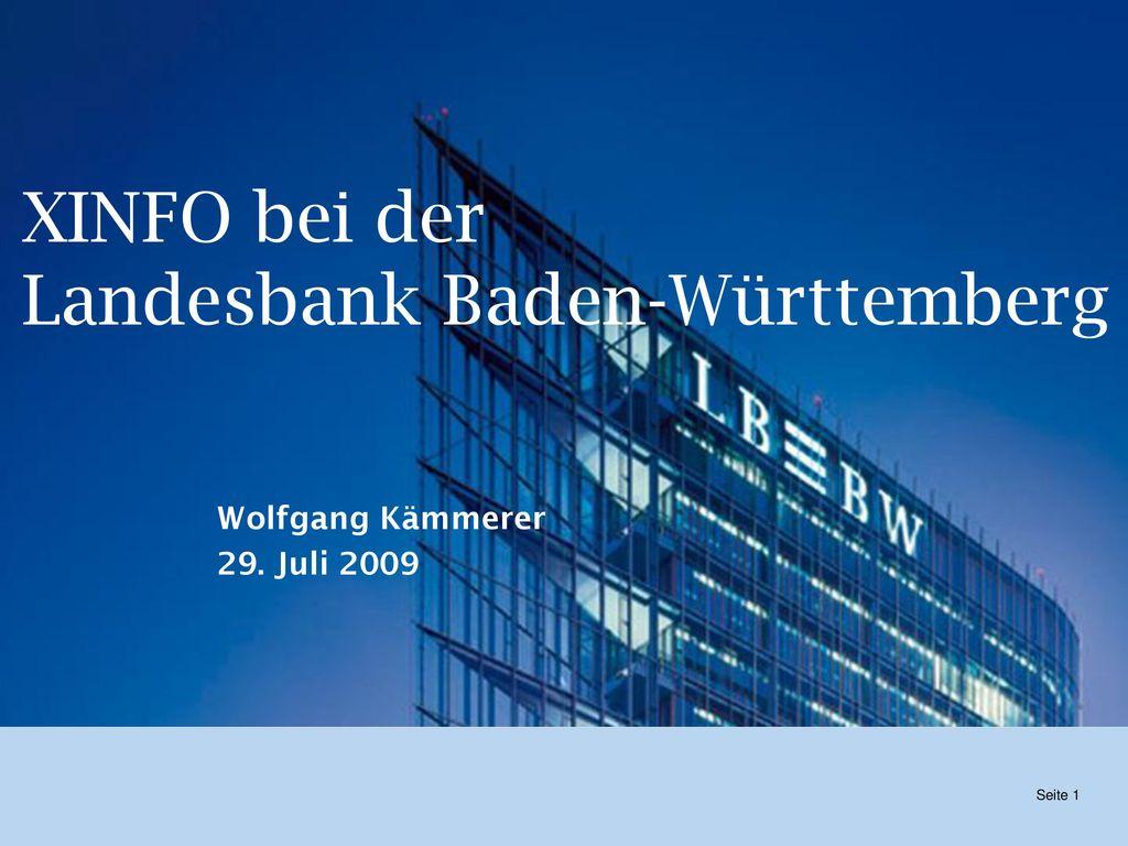 XINFO bei der Landesbank Baden-Württemberg