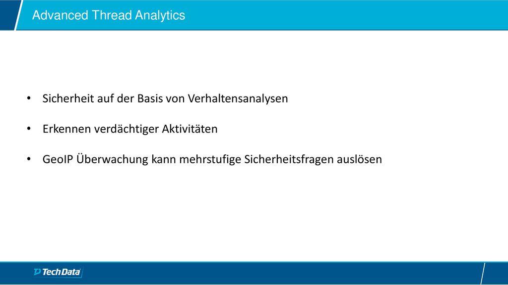 Advanced Thread Analytics