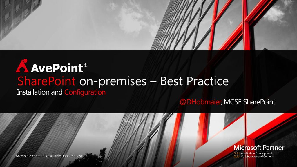 SharePoint on-premises – Best Practice