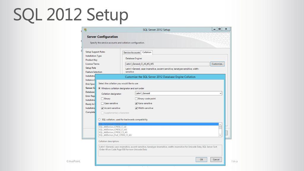SQL 2012 Setup