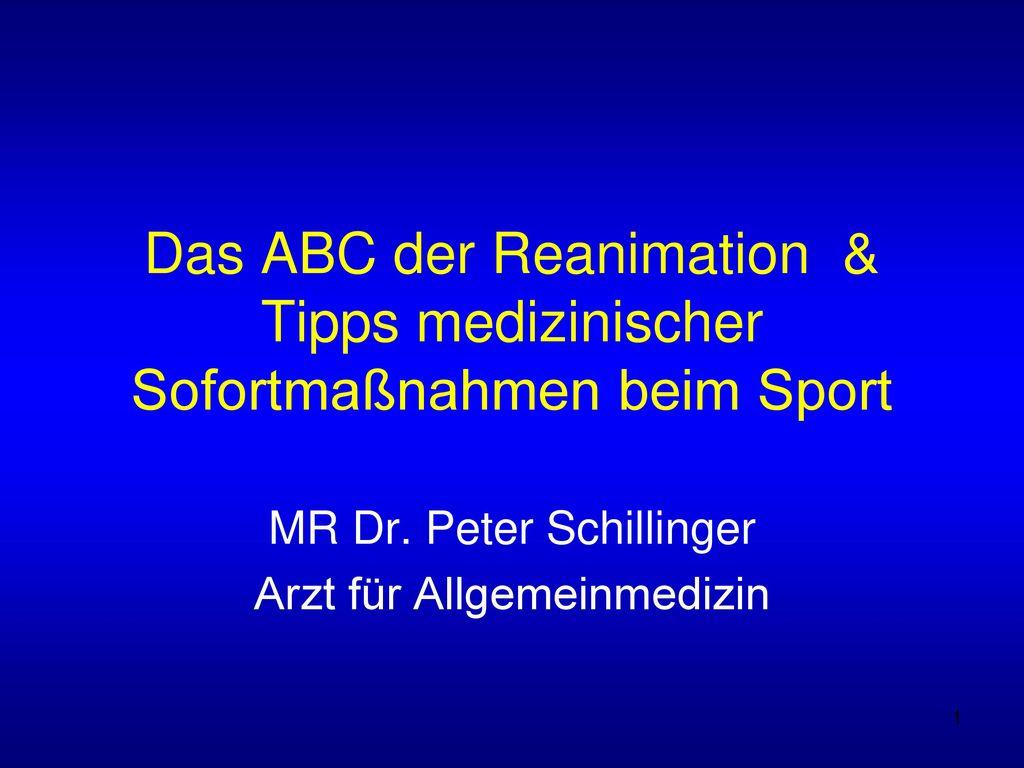 MR Dr. Peter Schillinger Arzt für Allgemeinmedizin