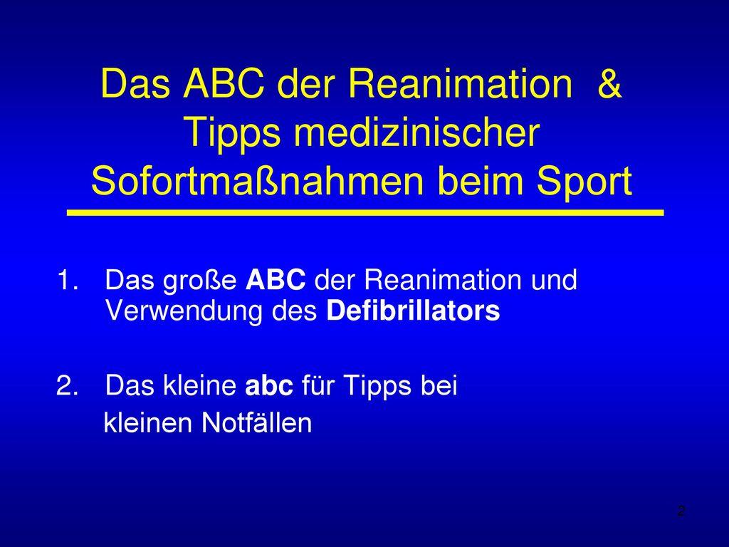 Das ABC der Reanimation & Tipps medizinischer Sofortmaßnahmen beim Sport