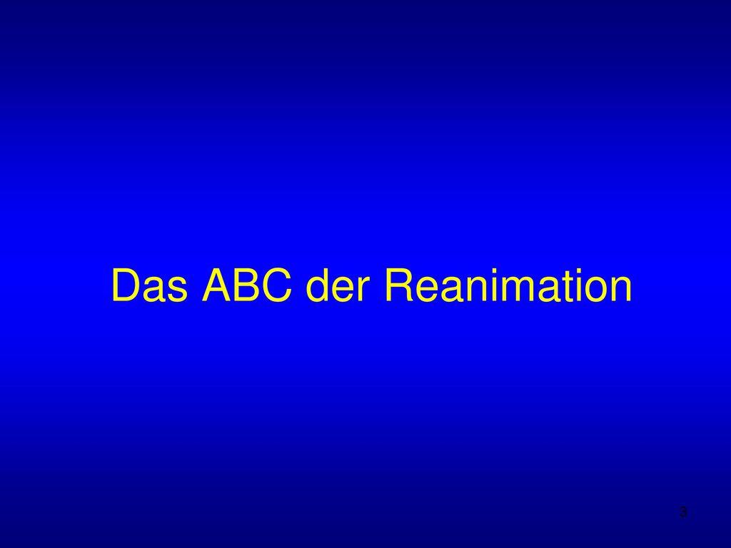 Das ABC der Reanimation