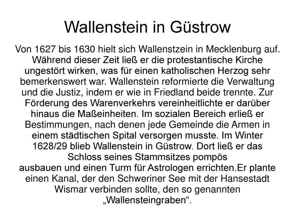Wallenstein in Güstrow