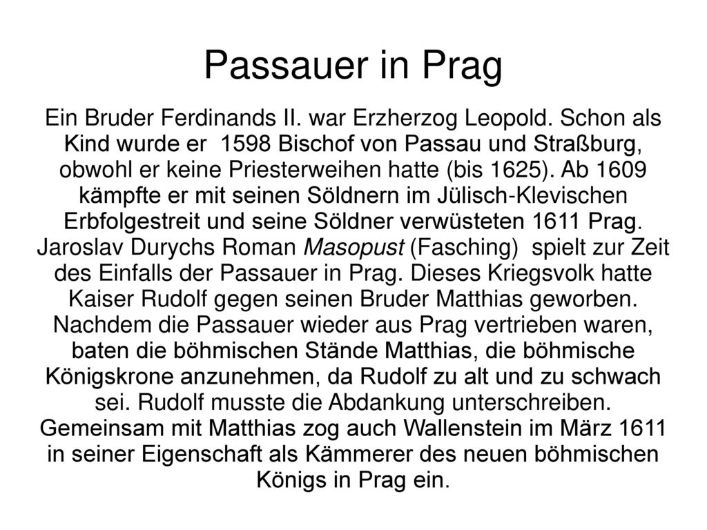 Passauer in Prag