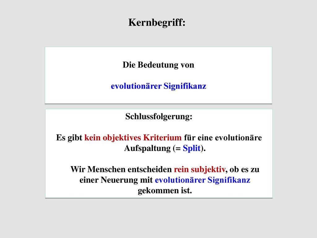 evolutionärer Signifikanz