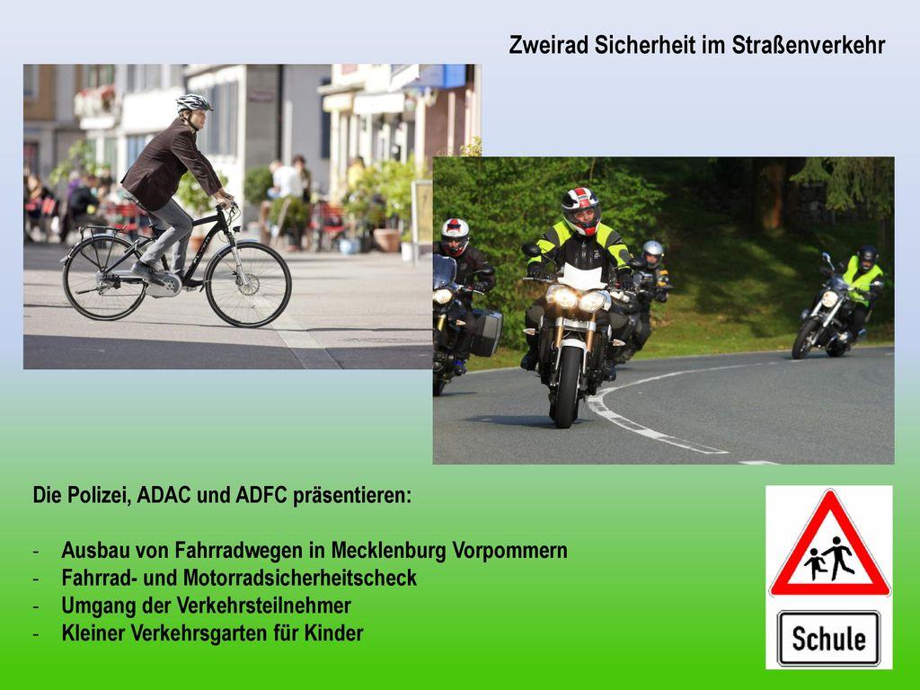 Zweirad Sicherheit im Straßenverkehr