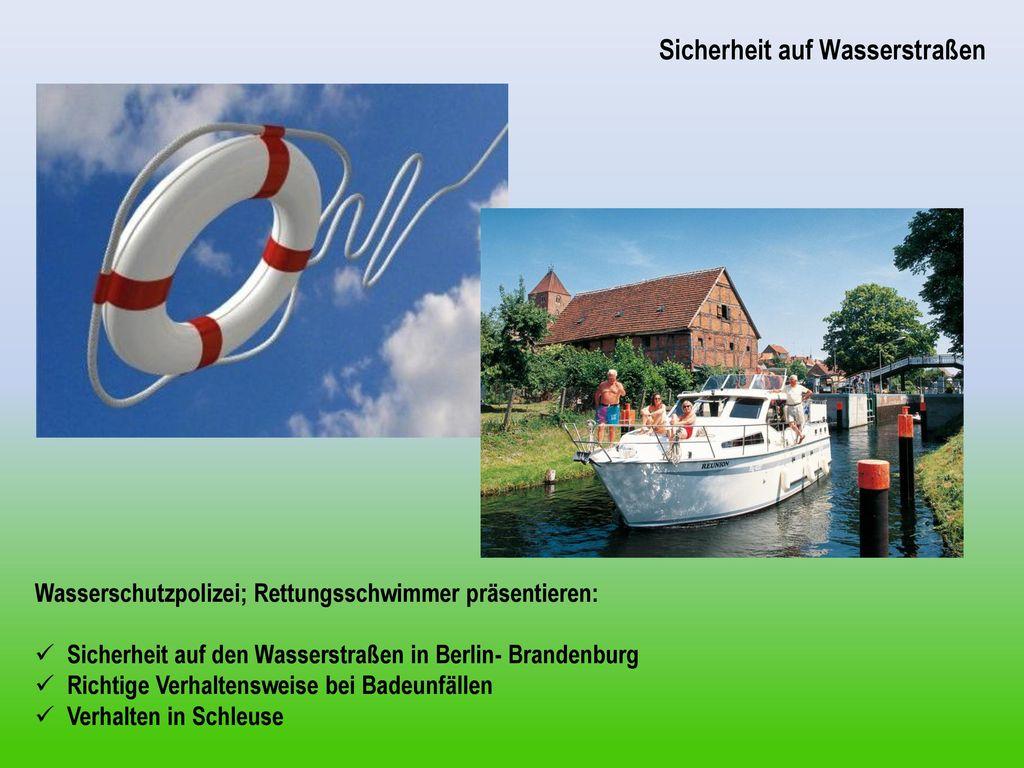 Sicherheit auf Wasserstraßen