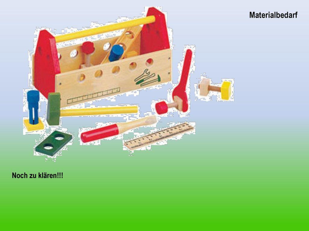 Die Idee Materialbedarf Noch zu klären!!!