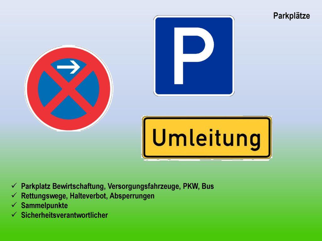 Parkplätze Parkplatz Bewirtschaftung, Versorgungsfahrzeuge, PKW, Bus