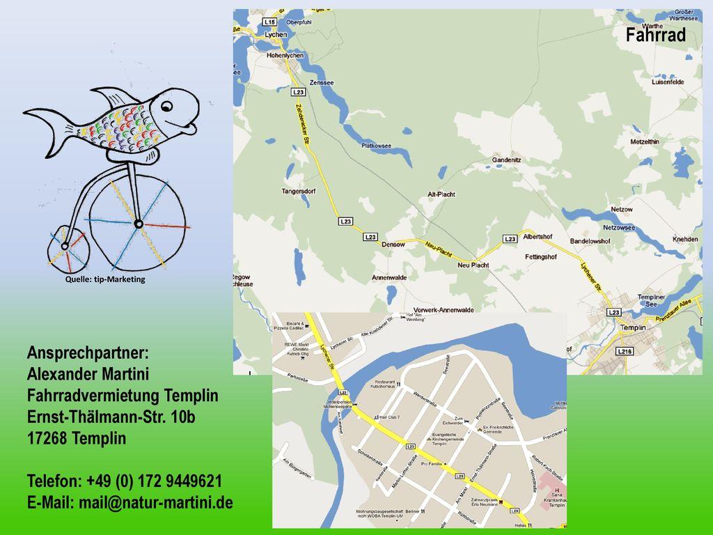Fahrrad Ansprechpartner: Alexander Martini Fahrradvermietung Templin