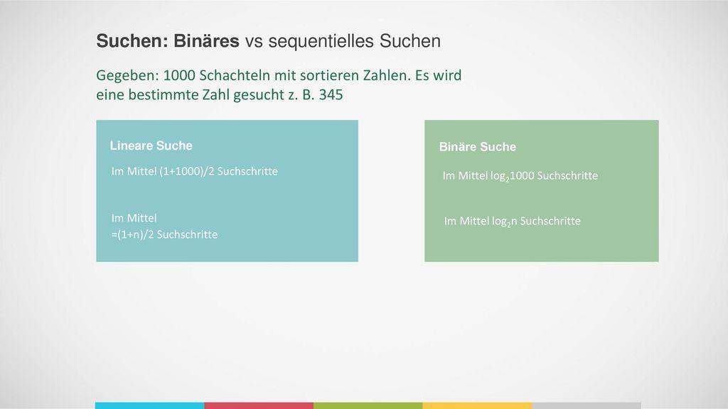 Suchen: Binäres vs sequentielles Suchen