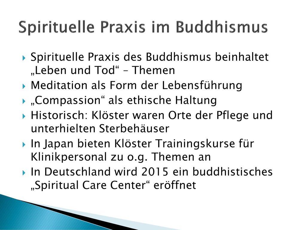 Spirituelle Praxis im Buddhismus