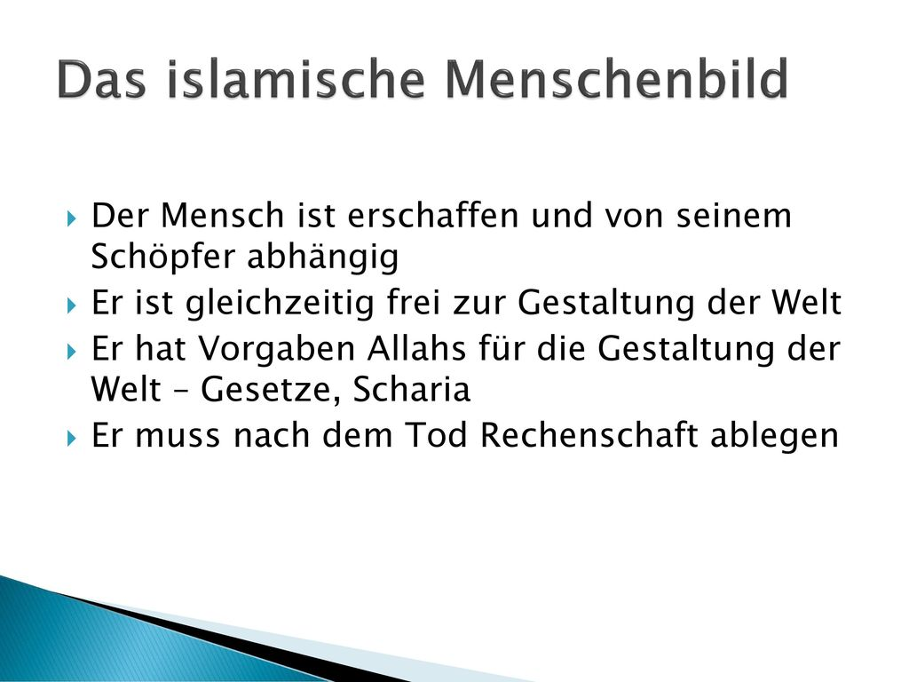 Das islamische Menschenbild