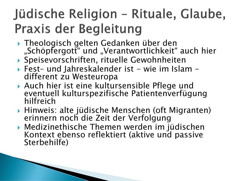 Jüdische Religion – Rituale, Glaube, Praxis der Begleitung