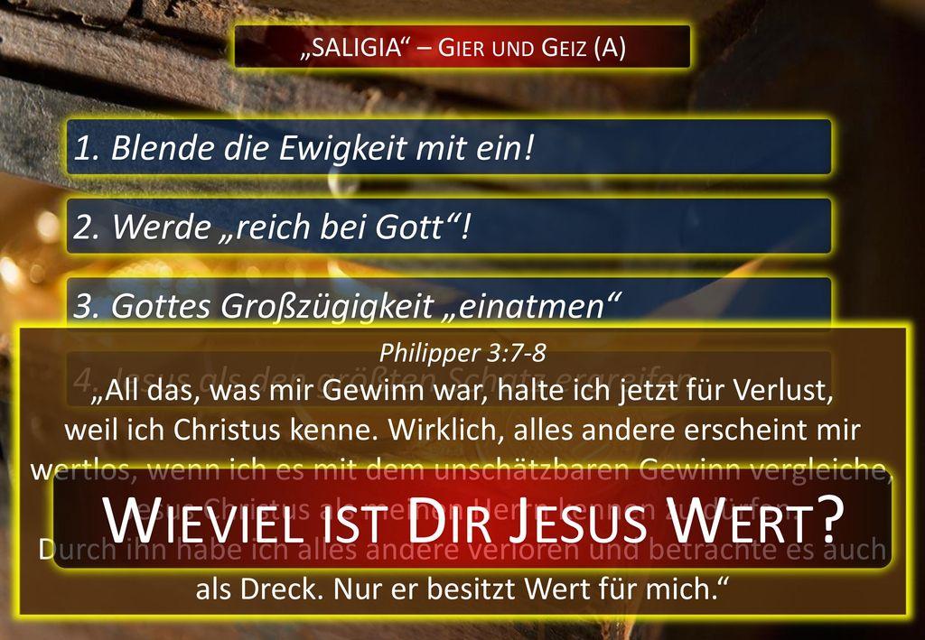 Wieviel ist Dir Jesus Wert