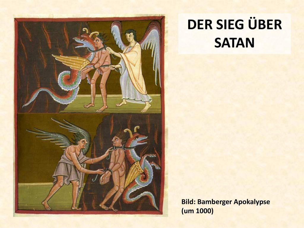 DER SIEG ÜBER SATAN Bild: Bamberger Apokalypse (um 1000)