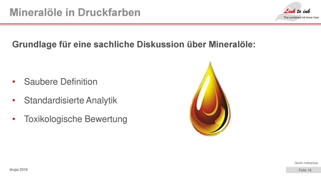 Mineralöle in Druckfarben