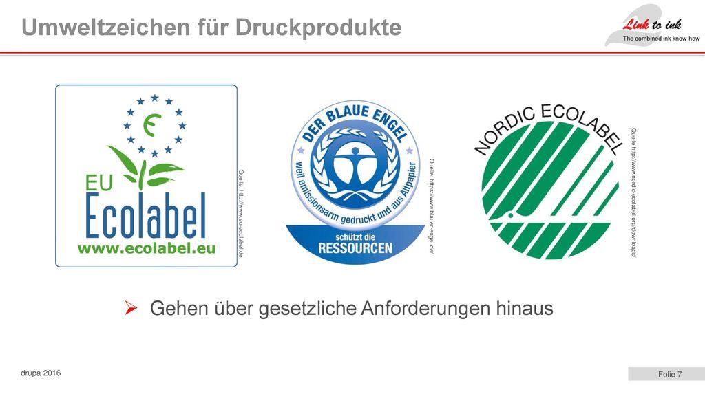 Umweltzeichen für Druckprodukte
