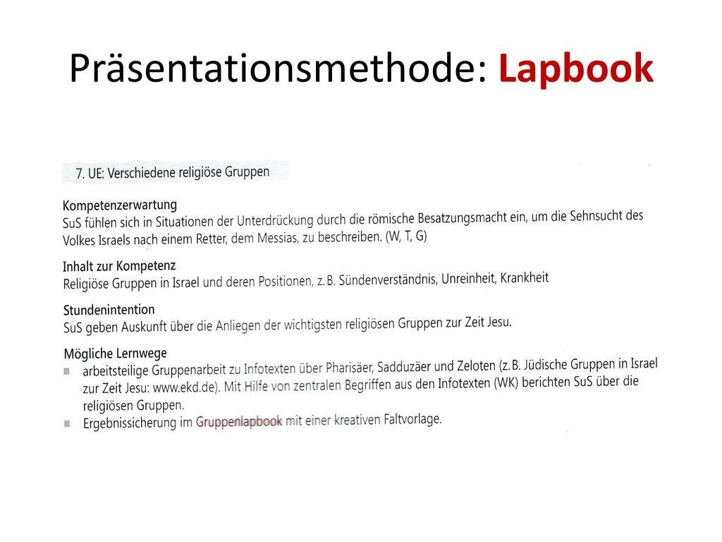 Präsentationsmethode: Lapbook