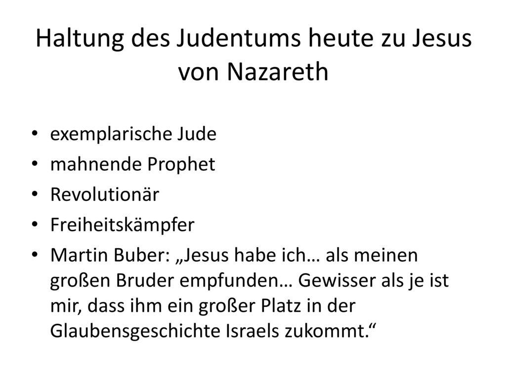 Haltung des Judentums heute zu Jesus von Nazareth