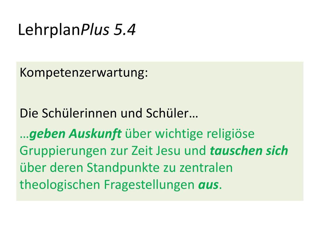 LehrplanPlus 5.4