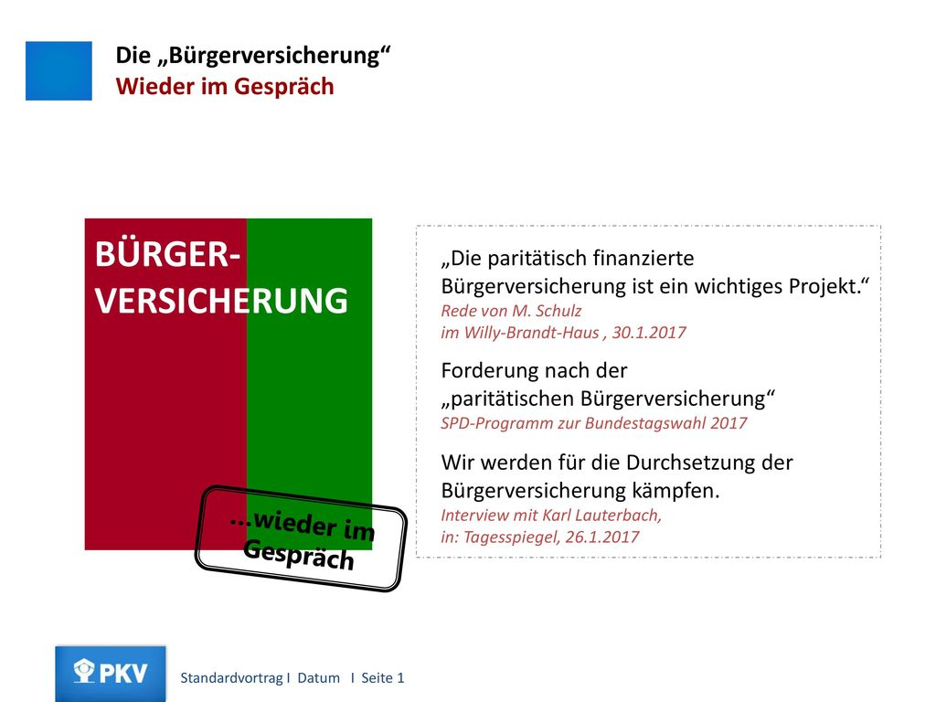 """BÜRGER- VERSICHERUNG Was bedeutet """"Bürgerversicherung"""