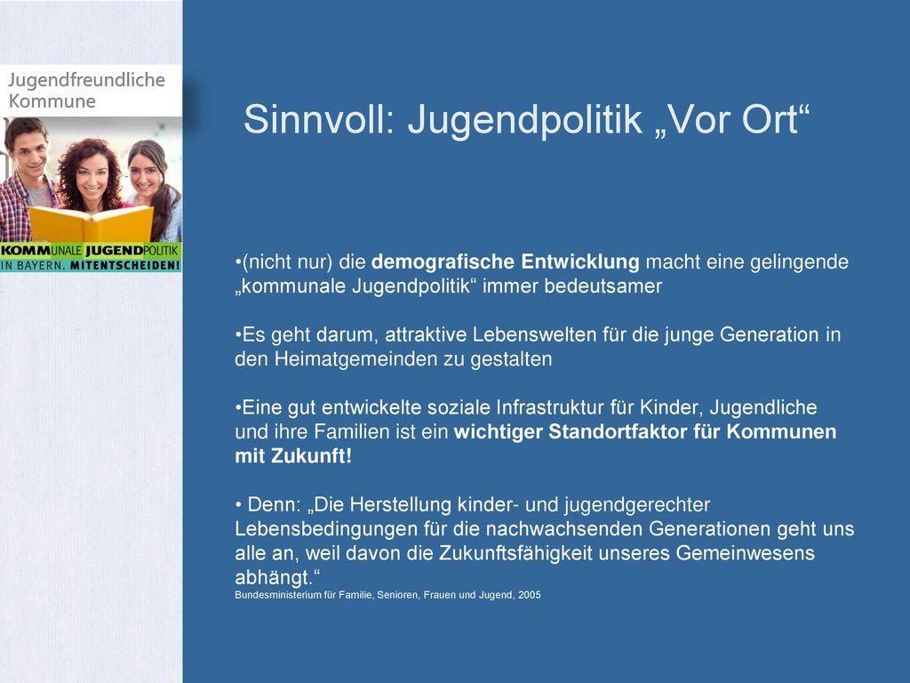 """Sinnvoll: Jugendpolitik """"Vor Ort"""
