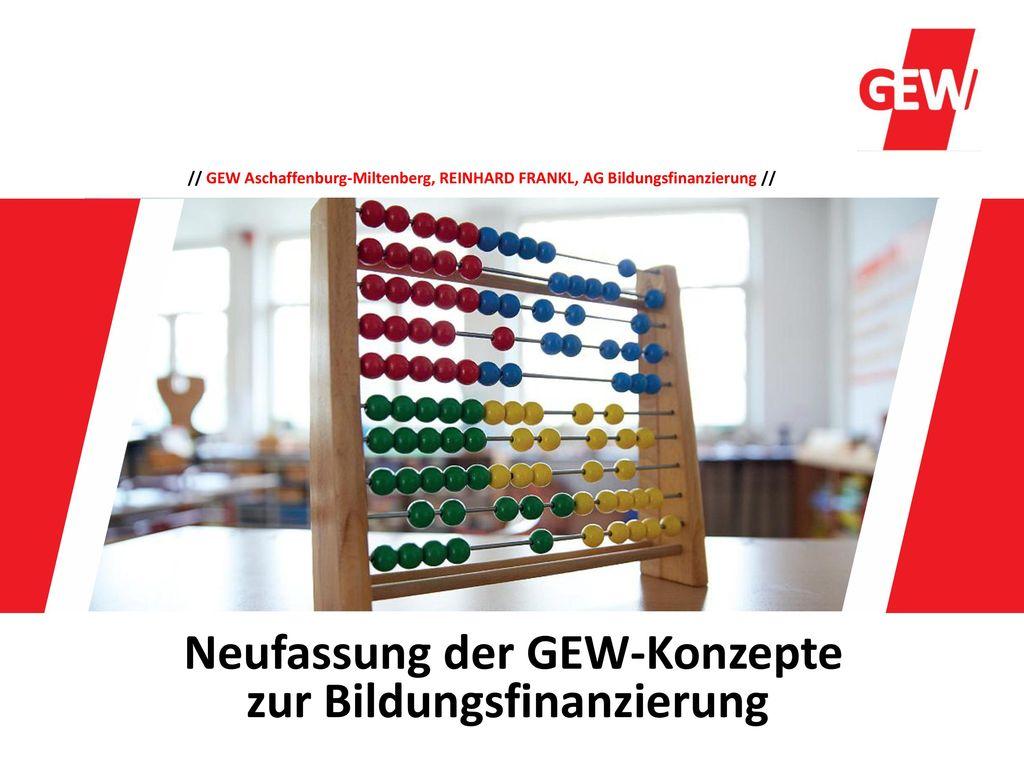 Neufassung der GEW-Konzepte zur Bildungsfinanzierung