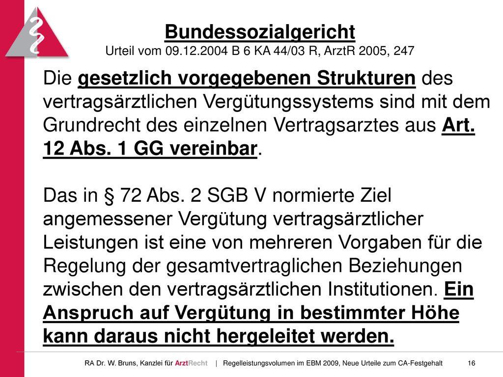 Bundessozialgericht Urteil vom 09. 12