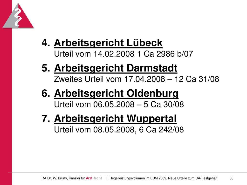Arbeitsgericht Lübeck Urteil vom 14.02.2008 1 Ca 2986 b/07
