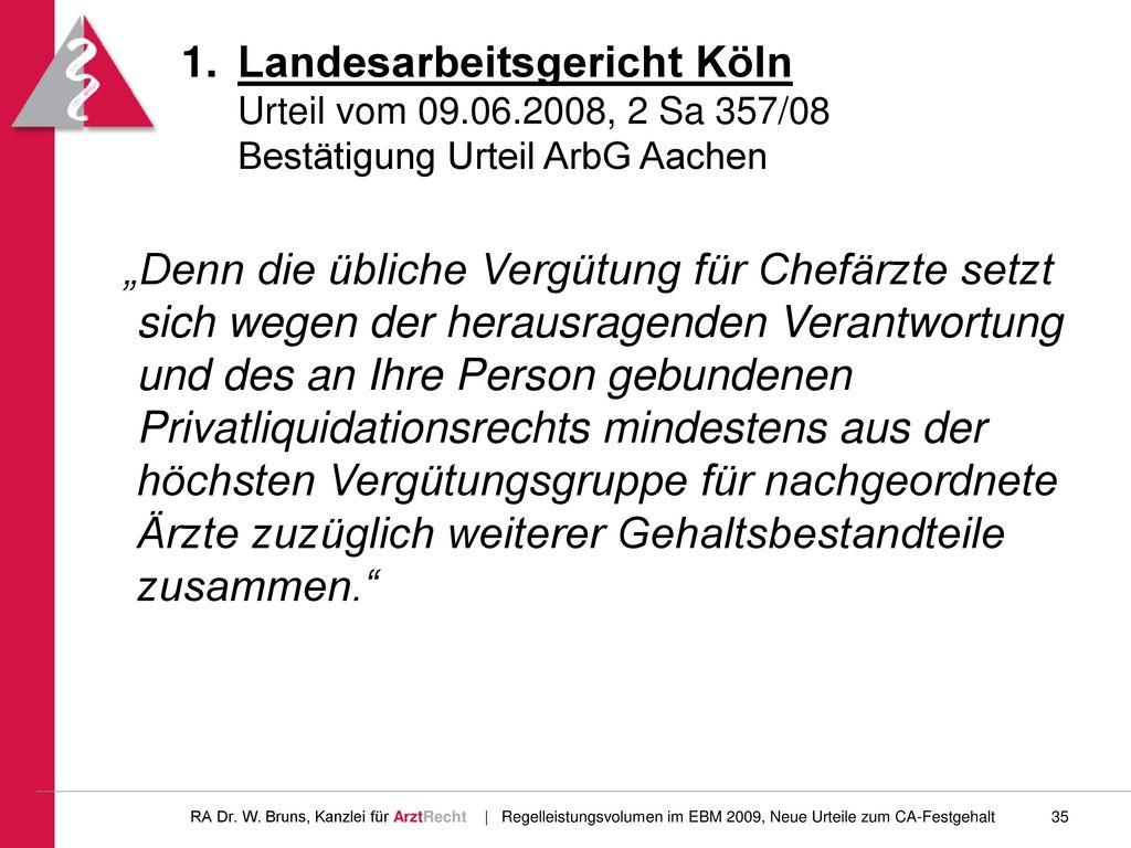 Landesarbeitsgericht Köln Urteil vom 09. 06