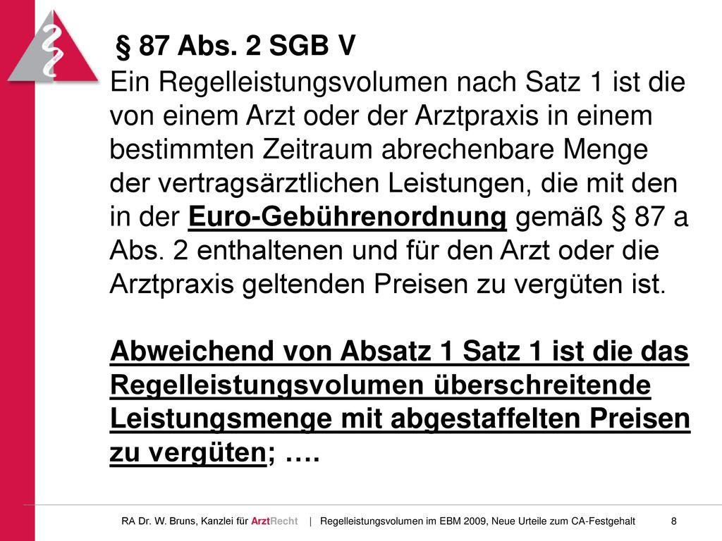 § 87 Abs. 2 SGB V