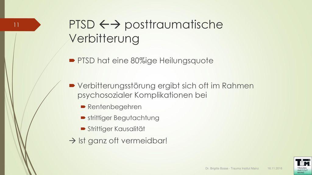 PTSD  posttraumatische Verbitterung