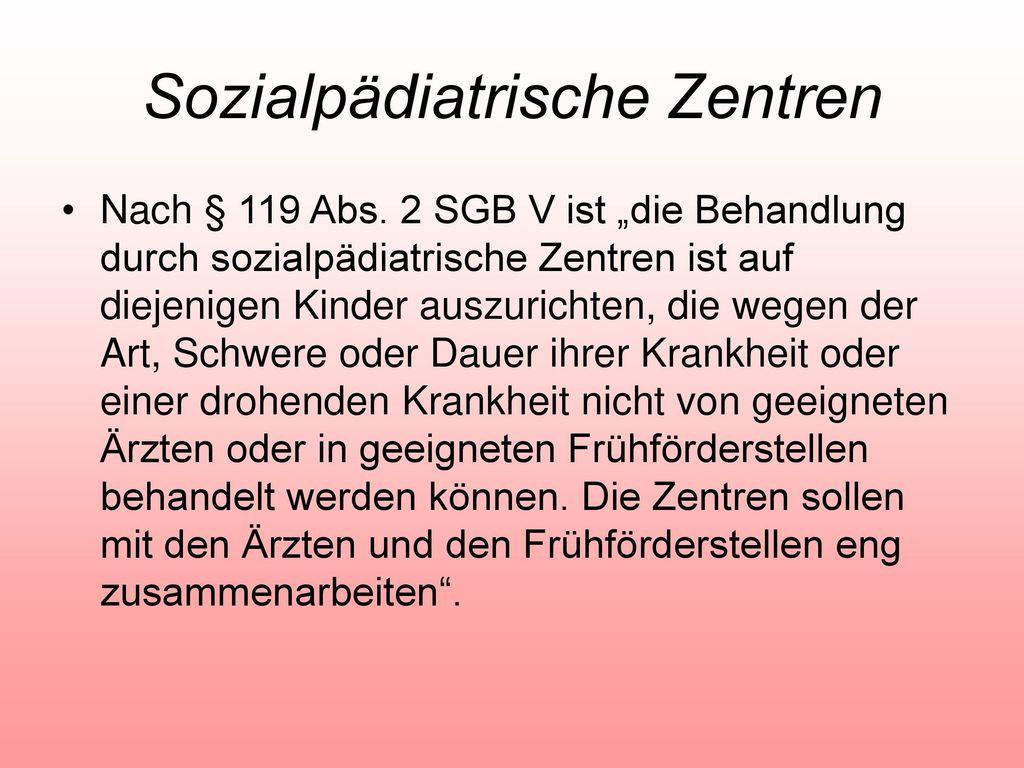 Sozialpädiatrische Zentren
