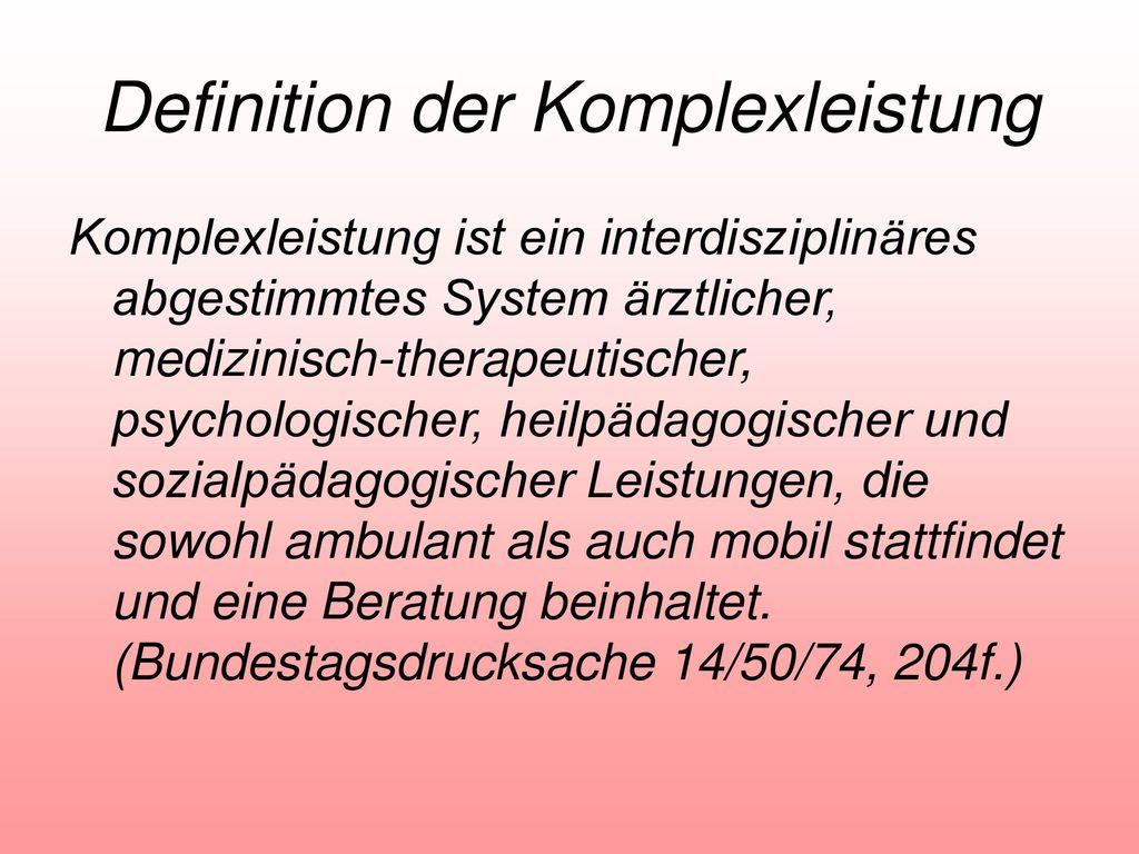 Definition der Komplexleistung